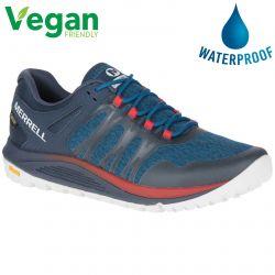 Merrell Mens Nova GTX Waterproof Vegan Trainers - Sailor