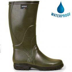 Aigle Mens Womens Tancar Pro WIDE Wellington Boots - Kaki
