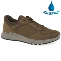 Ecco Shoes Mens Exostride Waterproof Walking Trainers - Cocoa Brown