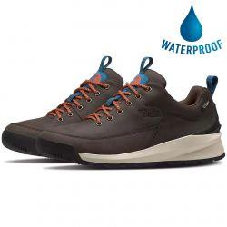 The North Face Mens Back to Berkeley Low Waterproof Walking Trainers - Coffee Brown TNF Black