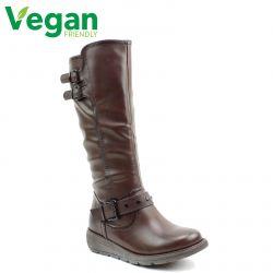 Heavenly Feet Womens Erica Tall Vegan Boot - Chocolate