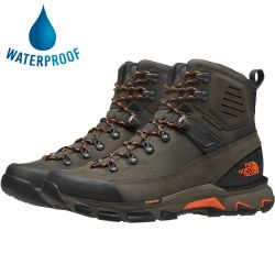 North Face Mens Crestvale Futurelight Waterproof Walking Boots - New Taupe Green TNF Black