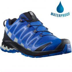 Salomon Mens XA Pro 3D v8 GTX Waterproof Walking Shoes - Turkish Sea Black Pearl Blue