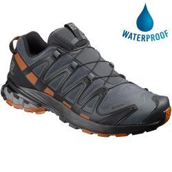Salomon Mens XA Pro 3D v8 GTX WIDE Waterproof Walking Shoes - Ebony Caramel Cafe Bk