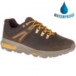Merrell Mens Zion Peak Waterproof Walking Hiking Shoes - Seal Brown