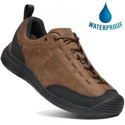 Keen Mens Jasper II WP Waterproof Leather Trainers - Dark Earth Black