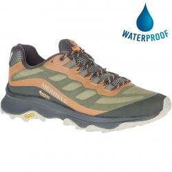 Merrell Mens Moab Speed GTX Vegan Waterproof Walking Shoe - Lichen