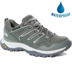 North Face Womens Hedgehog Futurelight Waterproof Walking Trainers - Agave Green Tin Grey