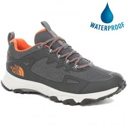 The North Face Mens Ultra Fastpack IV FutureLight Walking Shoes - Zinc Grey Persian Orange