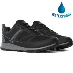 North Face Mens Lightwave Futurelight Waterproof Walking Shoes - TNF Black Zinc Grey