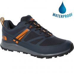 North Face Mens Lightwave Futurelight Waterproof Walking Shoes - Urban Navy TNF Black