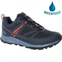 North Face Womens Lightwave Futurelight Waterproof Walking Shoes - Urban Navy Dusty Cedar