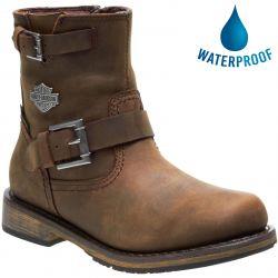 Harley Davidson Womens Kommer CE Waterproof Motorcycle Boots - Brown
