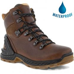 Ecco Shoes Womens Exohike Water-Repellent Walking Boots - Cocoa Brown