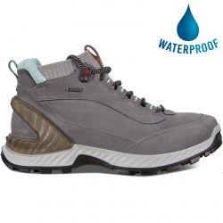 Ecco Shoes Womens Exohike GTX Waterproof Walking Boots - Titanium Concrete