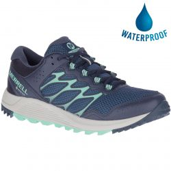 Merrell Womens Wildwood GTX Vegan Waterproof Walking Shoe - Navy