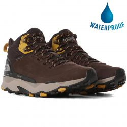 North Face Mens Vectiv Mid Futurelight Ltr Waterproof Walking Boots  - Deep Brown TNF Black