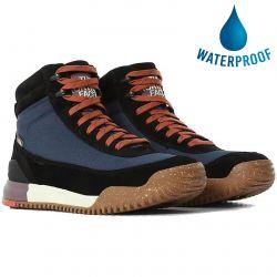 North Face Mens Back to Berkeley III Textile Waterproof Walking Boot - Monterey Blue TNF Black