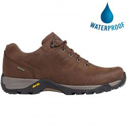 Sprayway Mens Girona Low Waterproof Leather Walking Shoes - Dark Brown