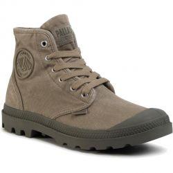 Palladium Mens Pampa Hi Canvas Combat Ankle Boots - Dusky Green