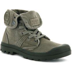 Palladium Mens Pallbrouse Baggy Canvas Combat Ankle Boots - Dusky Green
