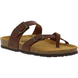 Plakton Womens Savannah Strappy Toe Post Sandals - Tan