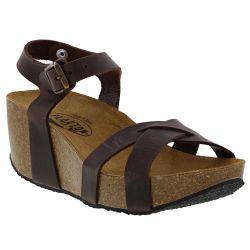 Plakton Womens Sitges Hi Sandals - Marron 448 Apure Brown