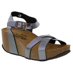 Plakton Womens Sitges Hi Sandals - Plomo Metal Lux Silver