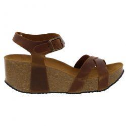 Plakton Womens Sitges Hi Sandals - Roble 225 Apure Tan