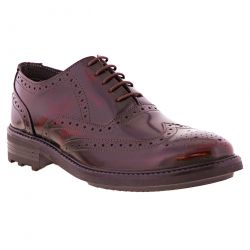 Mens Romers Ted Lace Up Oxford Formal Leather Brogues Shoes - Oxblood