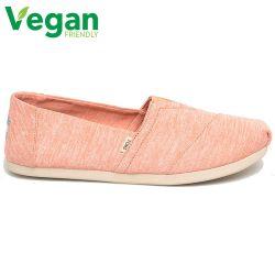 Toms Womens Alpargata Classic Espadrille Vegan Shoes - Pink Apricot Repreve