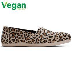 Toms Womens Alpargata Classic Espadrille Vegan Shoes - Birch Leopard Print