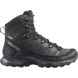 Salomon Mens X Ultra Trek GTX Waterproof Walking Hiking Boots - Black Black Magnet