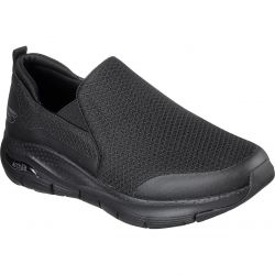 Skechers Mens Arch Fit Banlin Extra Wide Fit Trainers - Black Black