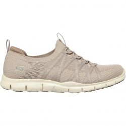 Skechers Womens Gratis Chic Newness Slip On Trainers - Taupe