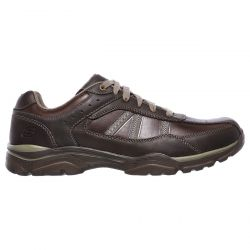 Skechers Mens Rovato Texon Shoes - Chocolate