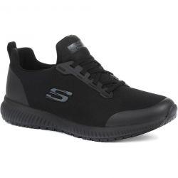 Skechers Mens Squad SR Myton Work Trainers Shoes - Black