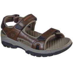 Skechers Mens Tresmen Hirano Adjustable Sandal - Brown