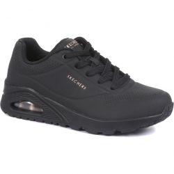 Skechers Womens Uno Stand On Air Trainers - Black Black