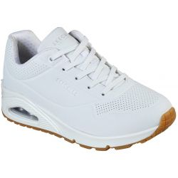 Skechers Womens Uno Stand On Air Trainers - White