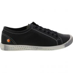 Softinos By Fly London Womens Isla Leather Trainers - Black Smooth