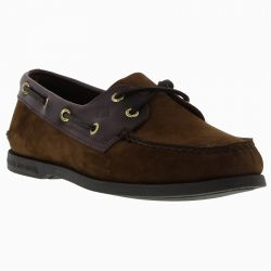 Sperry Mens Top Sider A/O 2 Eye Leather Boat Shoes - Buck Brown