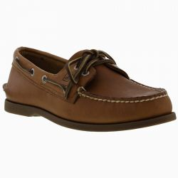 Sperry Mens Top Sider A/O 2 Eye Leather Boat Shoes - Sahara
