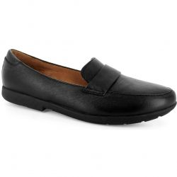 Strive Womens Milan Shoes - Black Leather