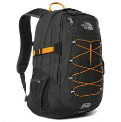 North Face Borealis Classic Backpack Rucksack Laptop Shoulder Bag - Asphalt Grey Knockout Orange
