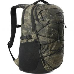 North Face Borealis Backpack Rucksack Laptop Shoulder Bag - Military Olive Cloud Camo Wash Print