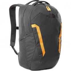 North Face Vault Backpack Rucksack Laptop Bag - Asphalt Grey Knockout Orange