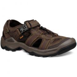 Teva Mens Omnium 2 Leather Walking Sandals - Turkish Coffee