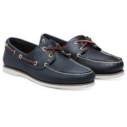 Timberland Mens Classic Boat Shoes - Navy Blue 74036