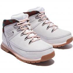 Timberland Kids Womens Euro Sprint Hiker Boots - Light Grey Camo - A2FJS